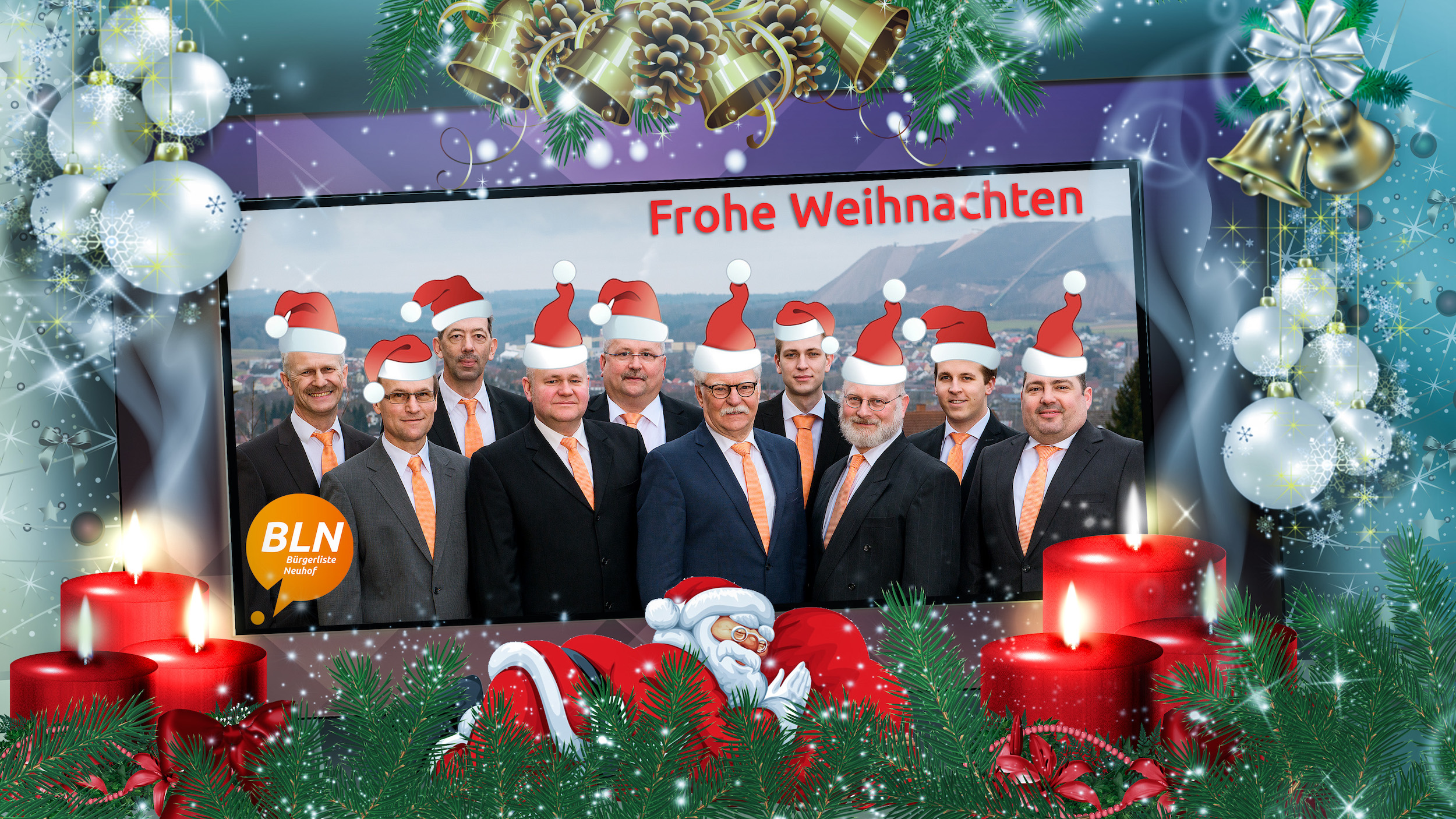 Frohe Weihnachten - Bürgerliste Neuhof